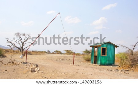 entrance / gate in the outback  - stock photo