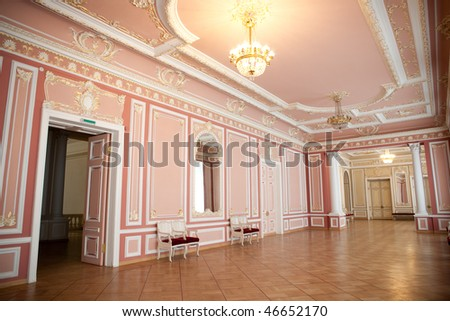 Entrance hall in classic style. - stock photo