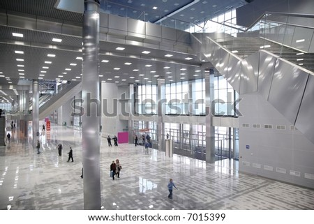 entrance in business center - stock photo
