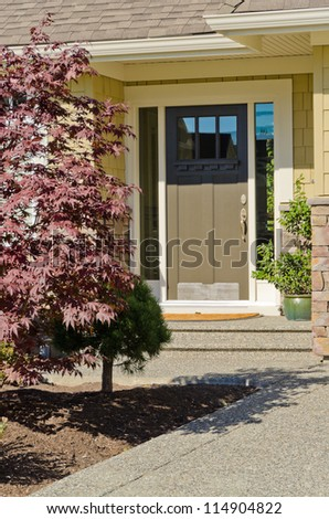 Entrance of a house - stock photo