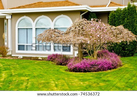 Entrance of a house. - stock photo