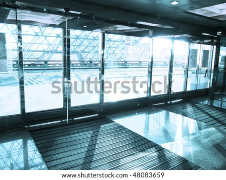 Entrance of airport - stock photo