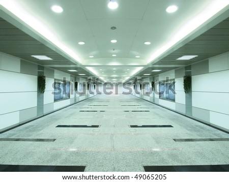 Entrance of subway - stock photo