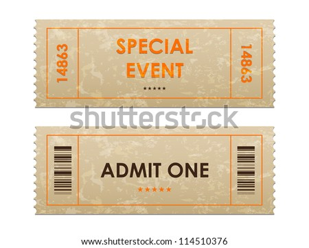 entrance tickets - stock photo