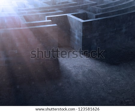 Entrance to a mysterious maze - stock photo