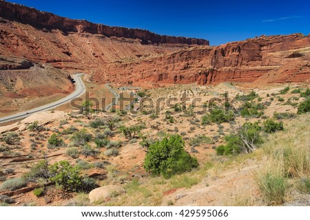 Entrance to Arches National Park, Utah, USA - stock photo