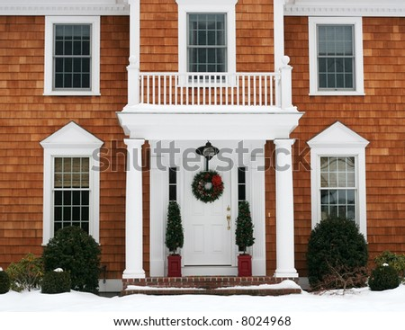 entrance to beautiful home - stock photo