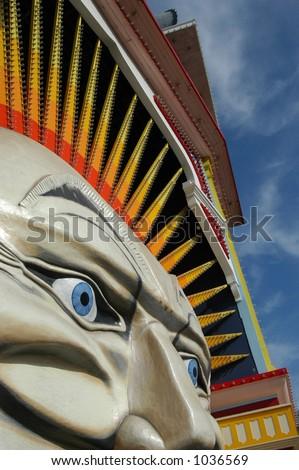 Entrance to Luna Park in St. Kilda, Melbourne, Australia - stock photo