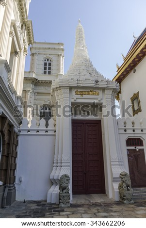 Entrance to temple at Wat Phra Kaeo in Bangkok