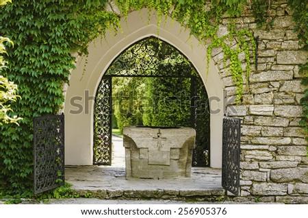 Entrance To The Garden - stock photo