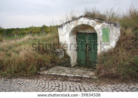 entrance to winery - stock photo