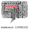Entrepreneur info-text graphic and arrangement concept on white background (word cloud) - stock