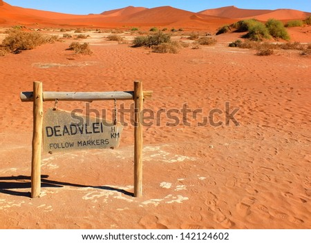 "Entry ""gate"" to the Deadvlei, Namibia - stock photo"