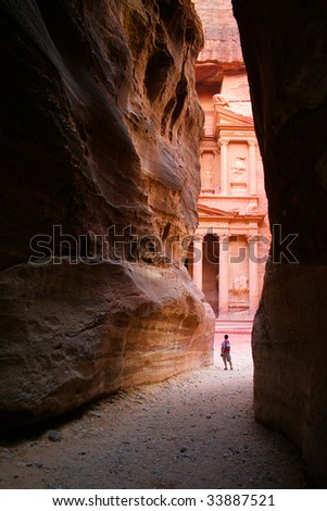 Entry to the old CIty of Petra, Jordan; Siq