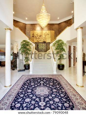 Entry Way in Luxury Home - stock photo