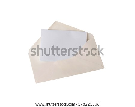 envelope and card isolated