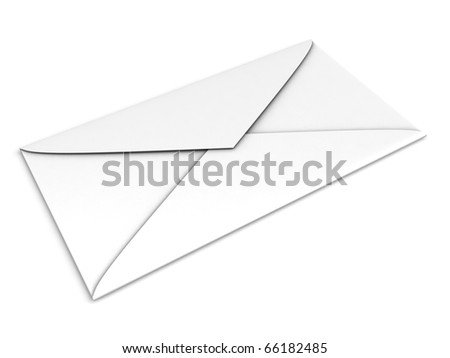 Envelope isolated on white