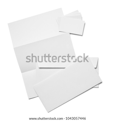 Business stationary set envelope sheet paper stock photo 161980910 envelope paper and business card template on white background reheart Gallery