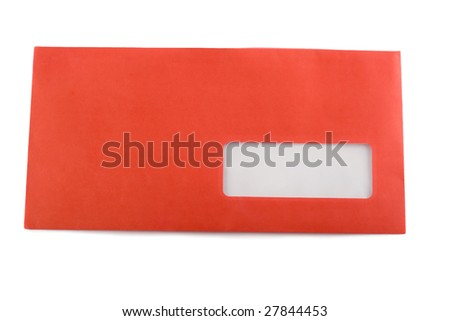 envelope red - stock photo