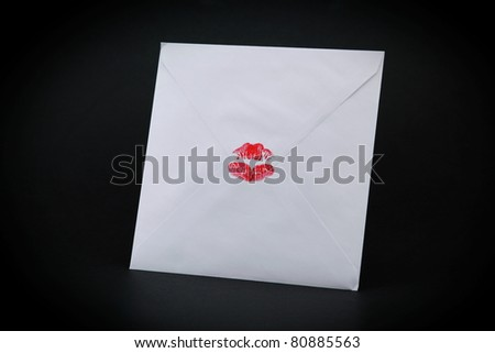 Envelope sealed with a kiss