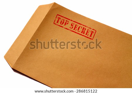 Envelope top secret
