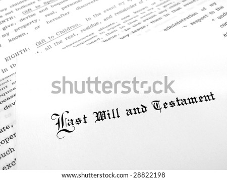 Envelope with Last Will and Testament - stock photo