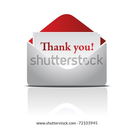 Envelope with Thank You Word - stock photo