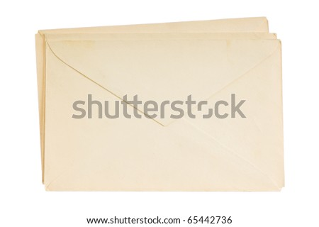 envelopes for letters isolated on white background