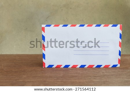 Envelopes on the table and vintage background
