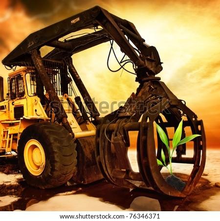 Enviroment pollution - stock photo