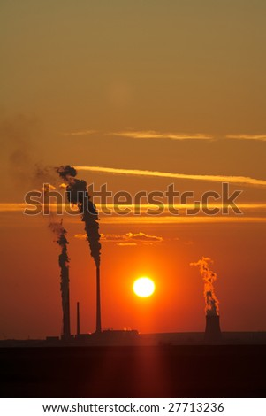 Environment damage by a industrial plant, emitting poison in the atmosphere
