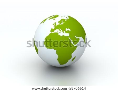 Environmental earth concept - Green Globe - stock photo