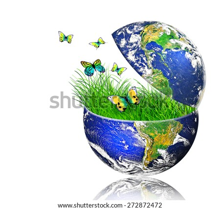 Environmental energy concept. (Elements of this image furnished by NASA) - stock photo