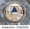 Environmental Monitoring Well Cap - stock photo