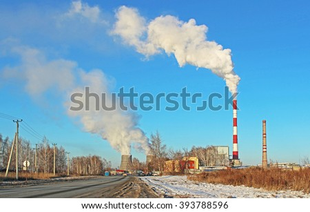 Environmental pollution in the city - stock photo