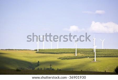 Environmentally friendly renewable energy windmill - stock photo