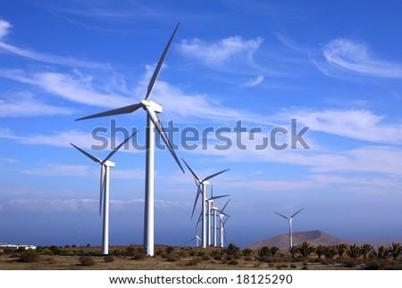 Eolic - wind turbine - stock photo