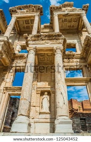 Ephesus ancient greek ruins in Anatolia Turkey - stock photo