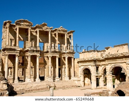 Ephesus Library - stock photo
