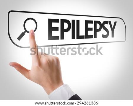 Epilepsy written in search bar on virtual screen - stock photo