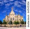 Episcopal Palace, Astorga, Pilgrim route to Santiago de Compostela, Spain, UNESCO, - stock photo