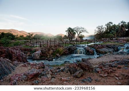 Epupa Falls, Namibia, Africa - stock photo