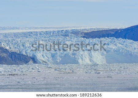 Eqip Sermia glacier in Greenland  - stock photo
