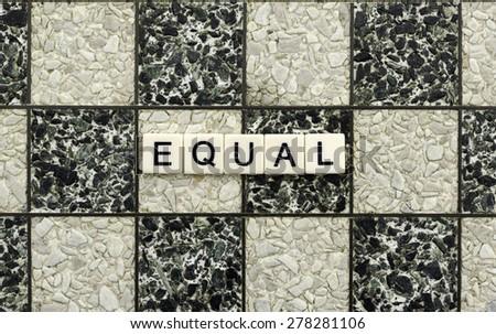 Equal - stock photo