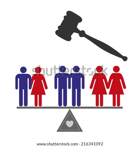 Equal Rights. Concept sign for marriage equality for all couples  - stock photo