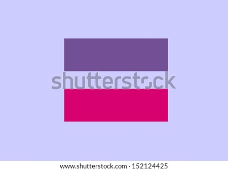 Equal Sign Symbol Bisexual Marriage Equality Stock Illustration