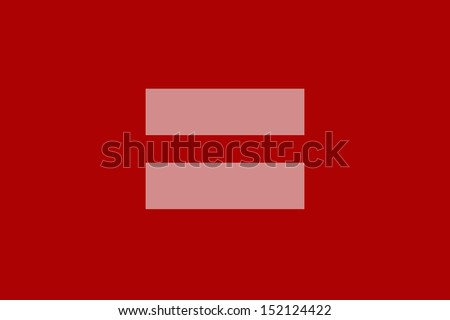 equal sign a symbol of marriage equality Human Rights Campaign - stock photo