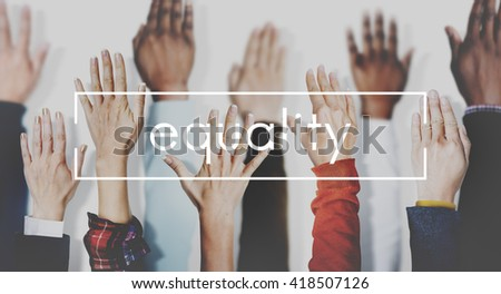Equality Balance Fairness Respect Relationship Concept - stock photo