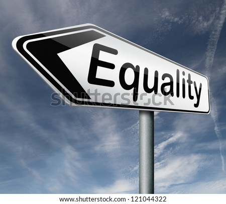 equality equal rights and opportunities for all women man disabled black and white solidarity discrimination of people with disability or physical and mental handicap - stock photo