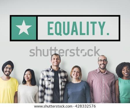Equality Friends Team Community Fair Concept - stock photo